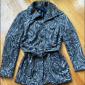 Printed Belt Jacket